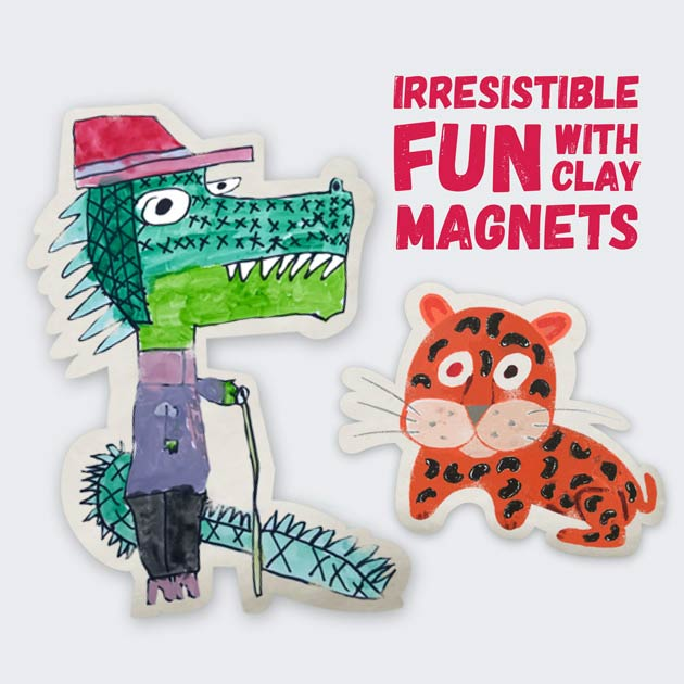 Creative with Clay Magnets